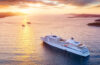 Cruise ship off coast of Croatia