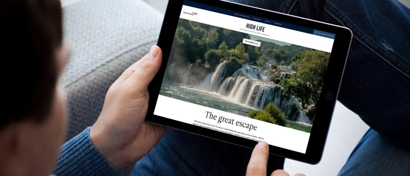 British Airways digital version of High Life magazine
