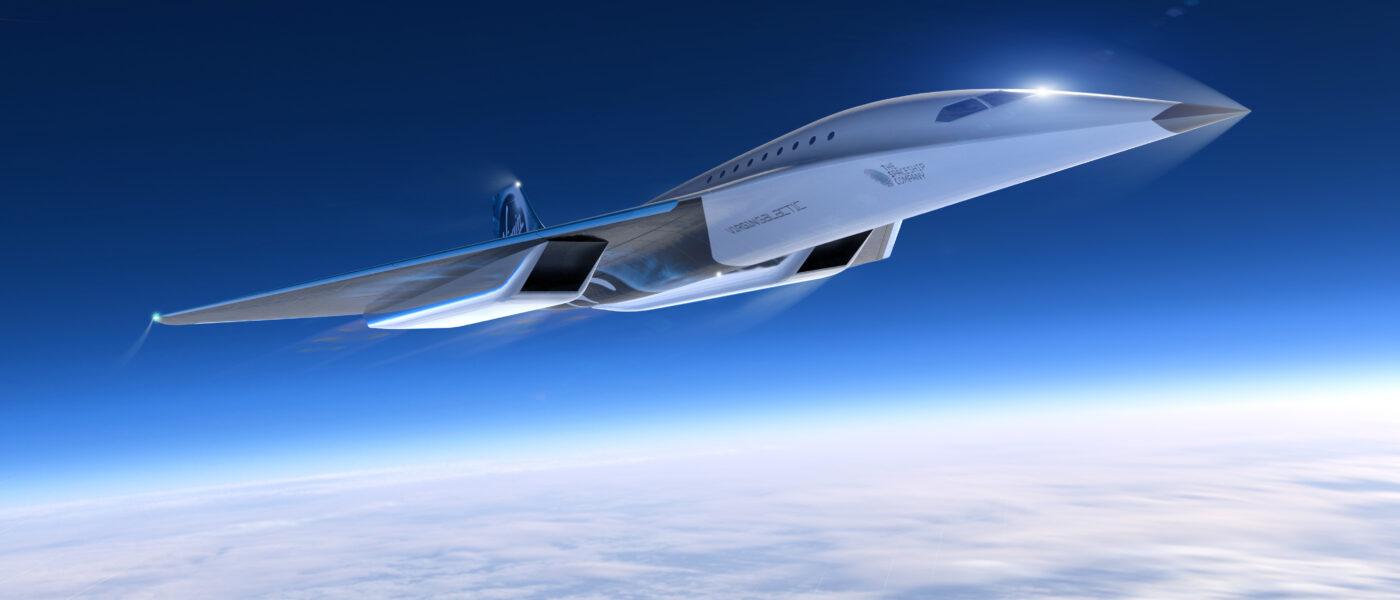 Virgin Galactic supersonic aircraft
