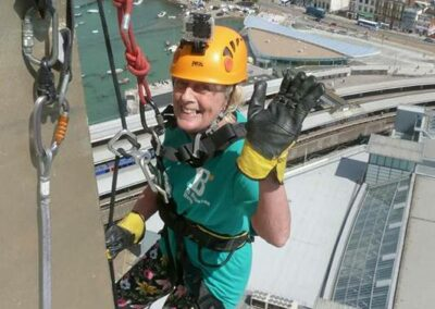 Sylv Abseiling