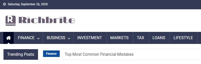 Richbrite.com Personal Finance Blogs