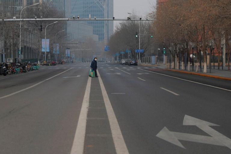 prazna ulica u kini uslijed izvarednih okolnosti