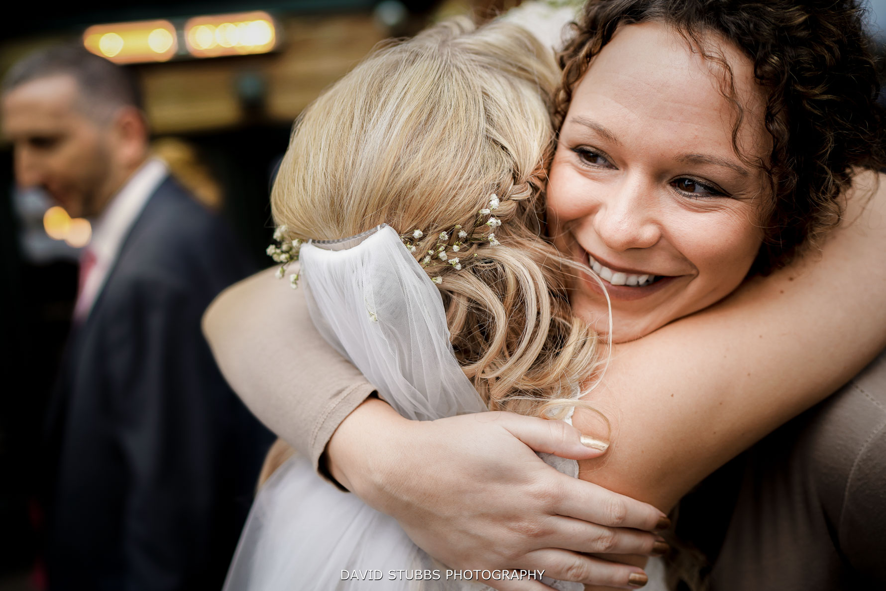 huge hugs after the ceremony at Great John Street Hotel