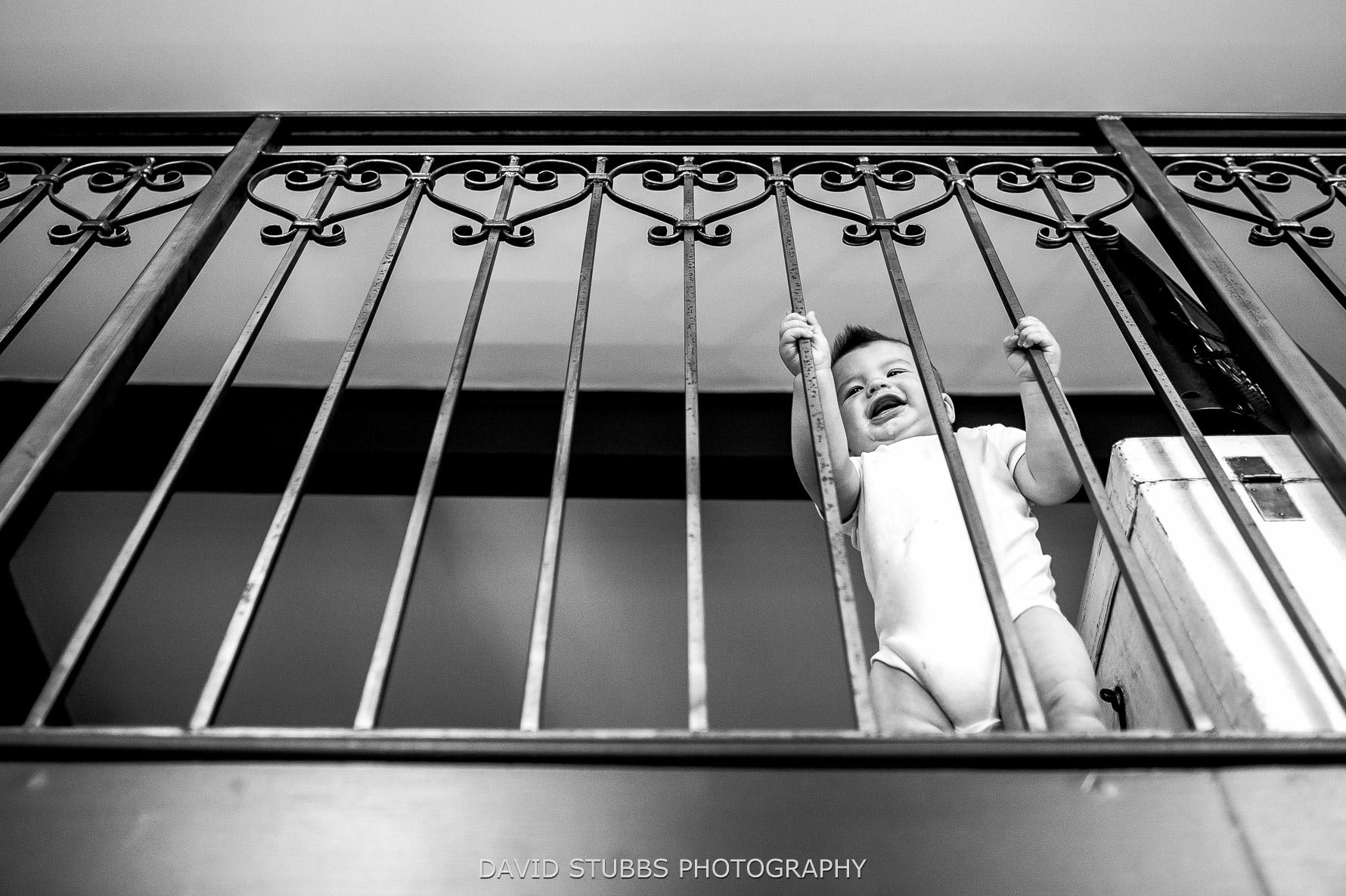 classroom railing with kid