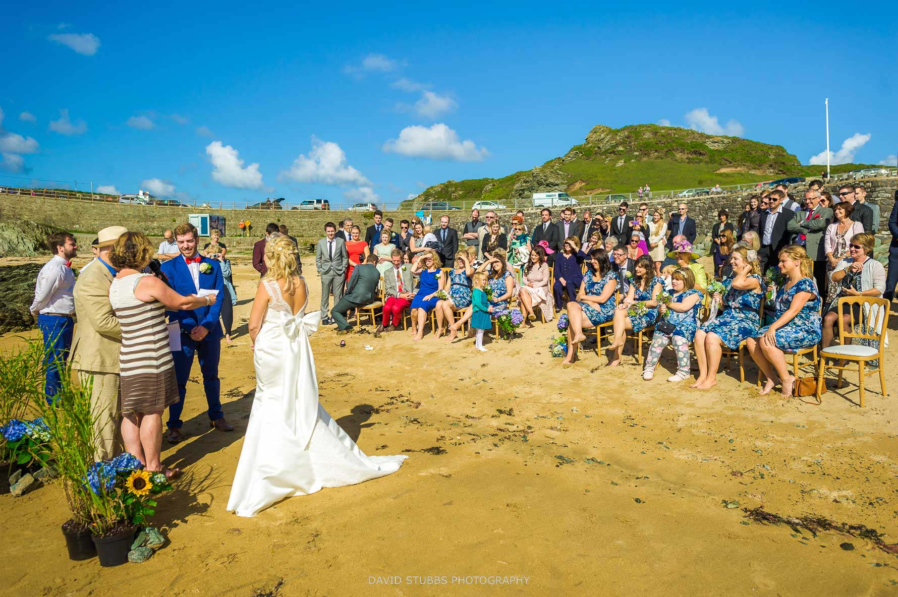 photo looking back up the anglesey wedding