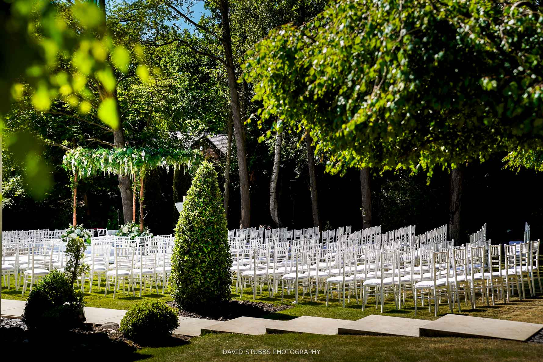 the chuppah location at the venue