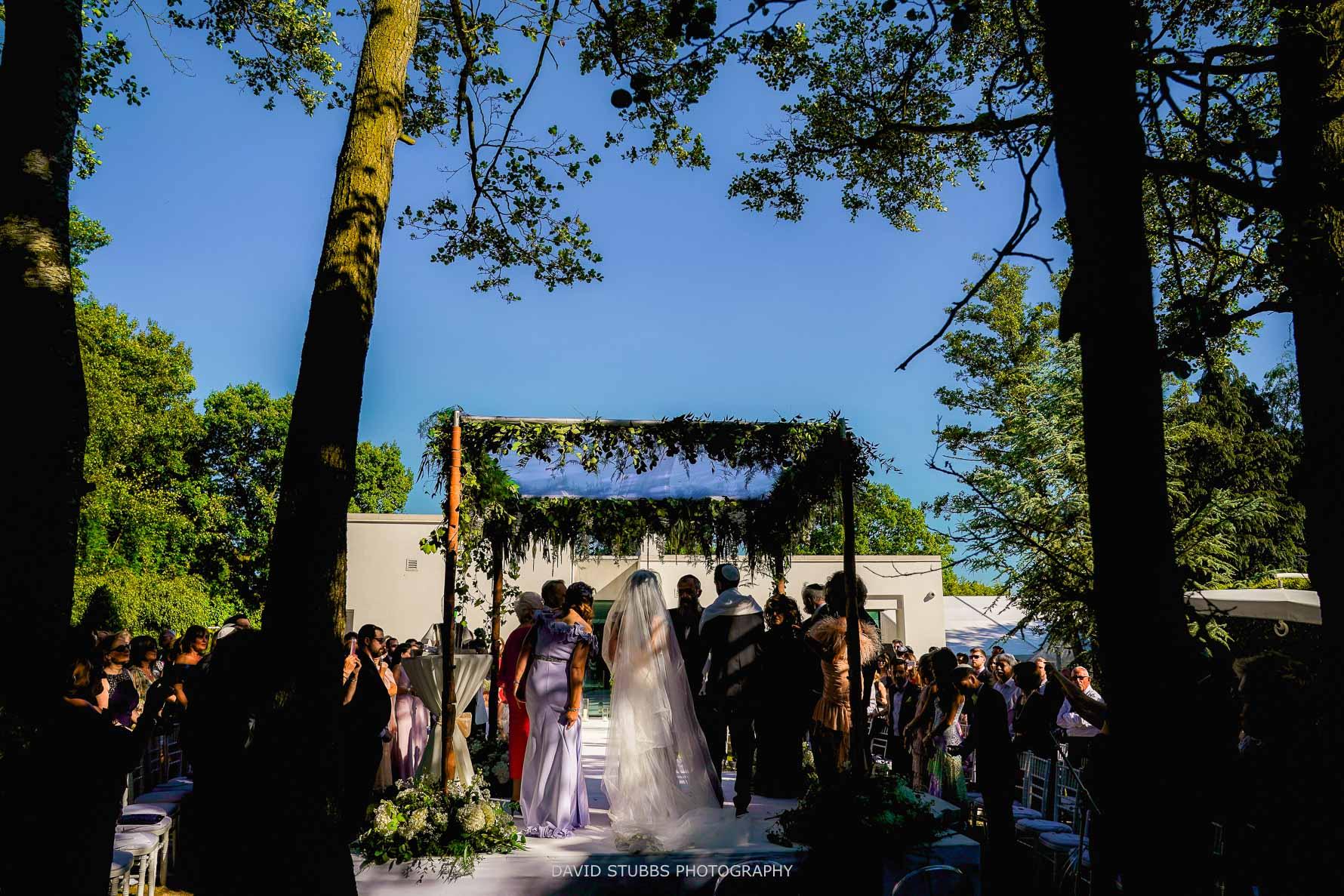 outside chuppah for the wedding