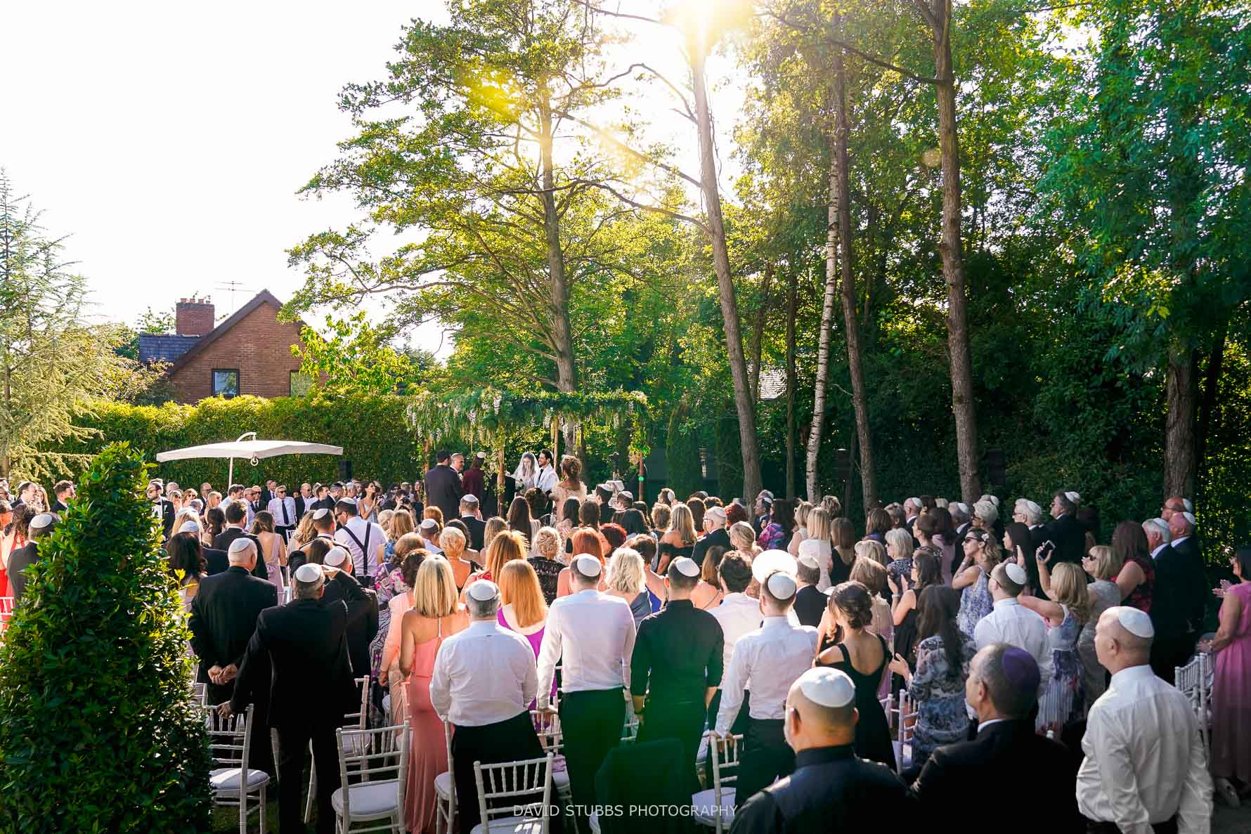 the wedding chuppah outside ceremony