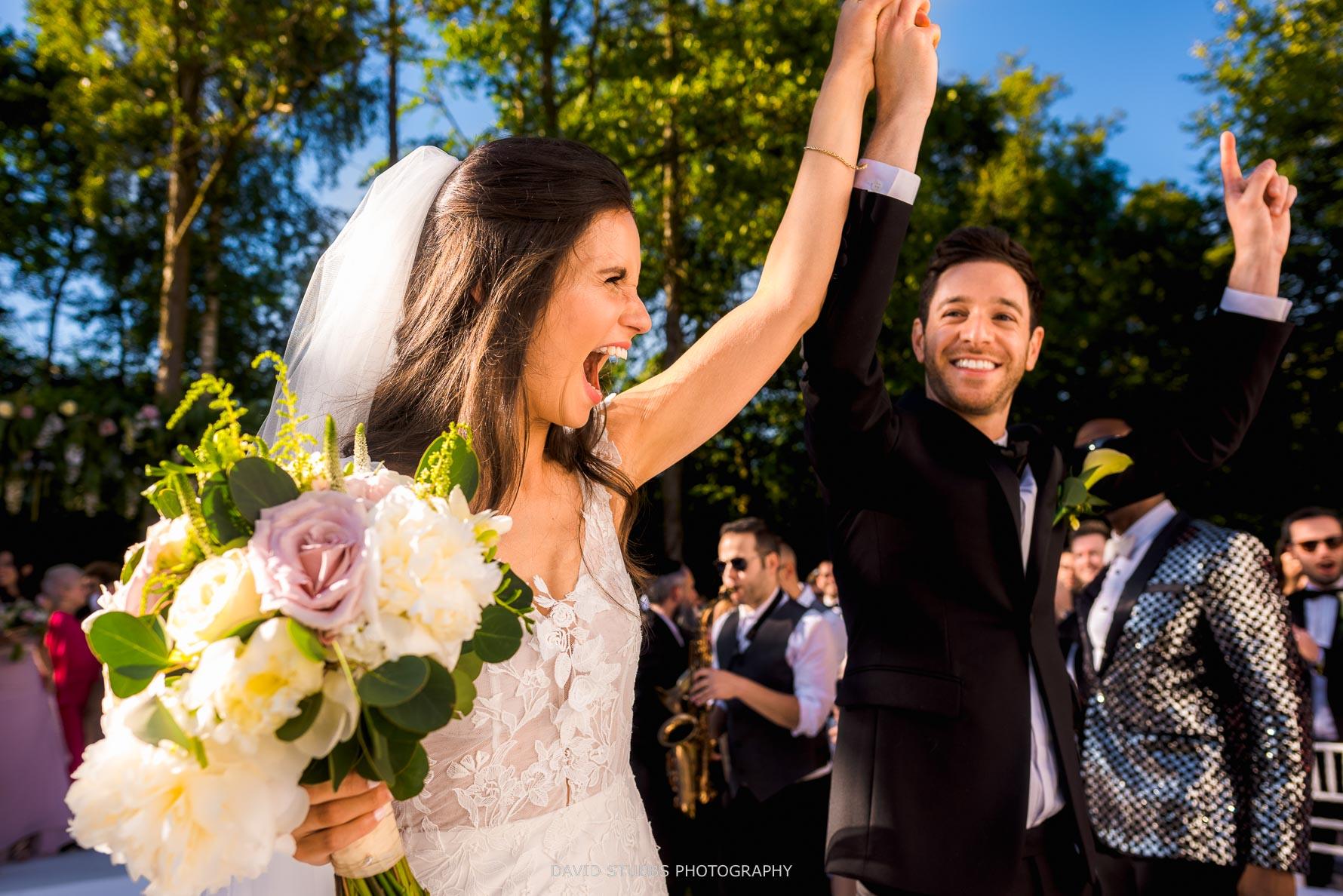 celebrating just got married