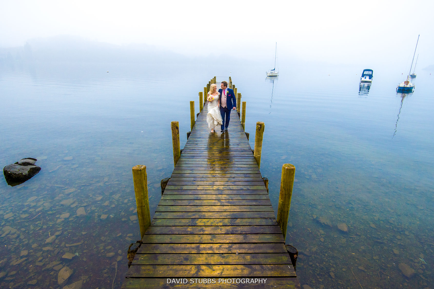 walking along the jetty for photographs