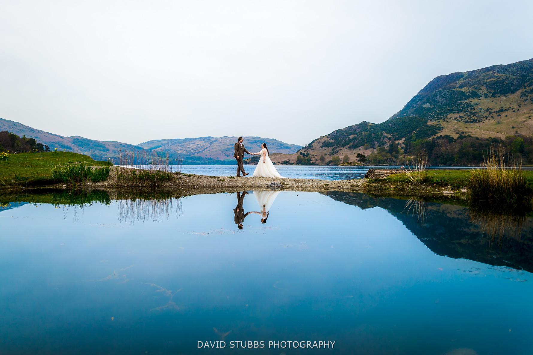 reflection photo on lake