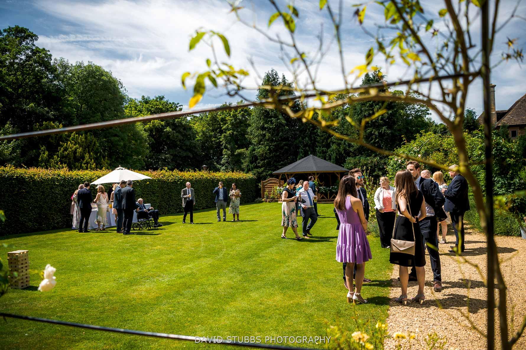 geusts at reception venue