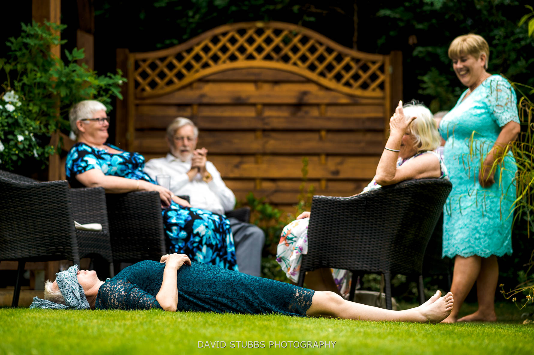 guests asleep on lawn