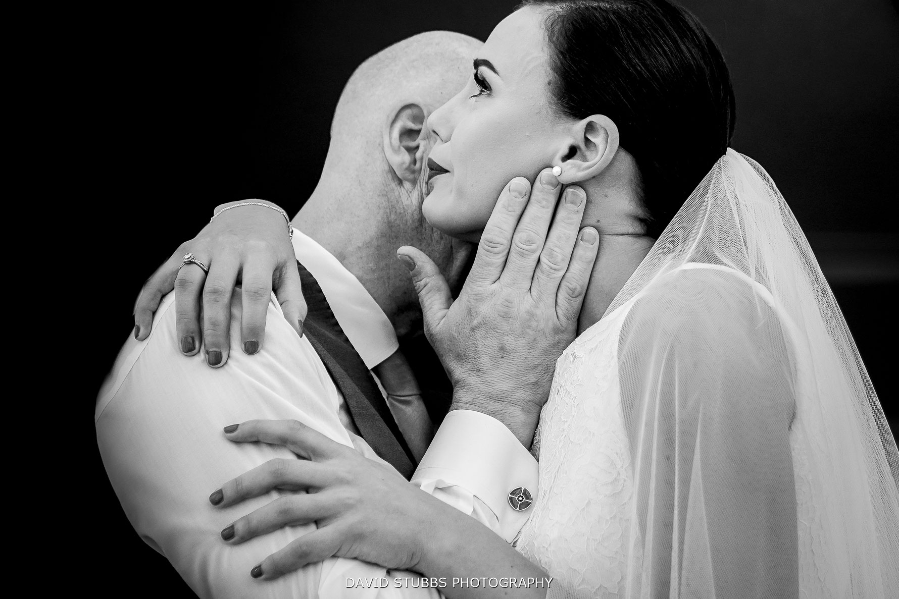 emotional hug and tears from father of the bride