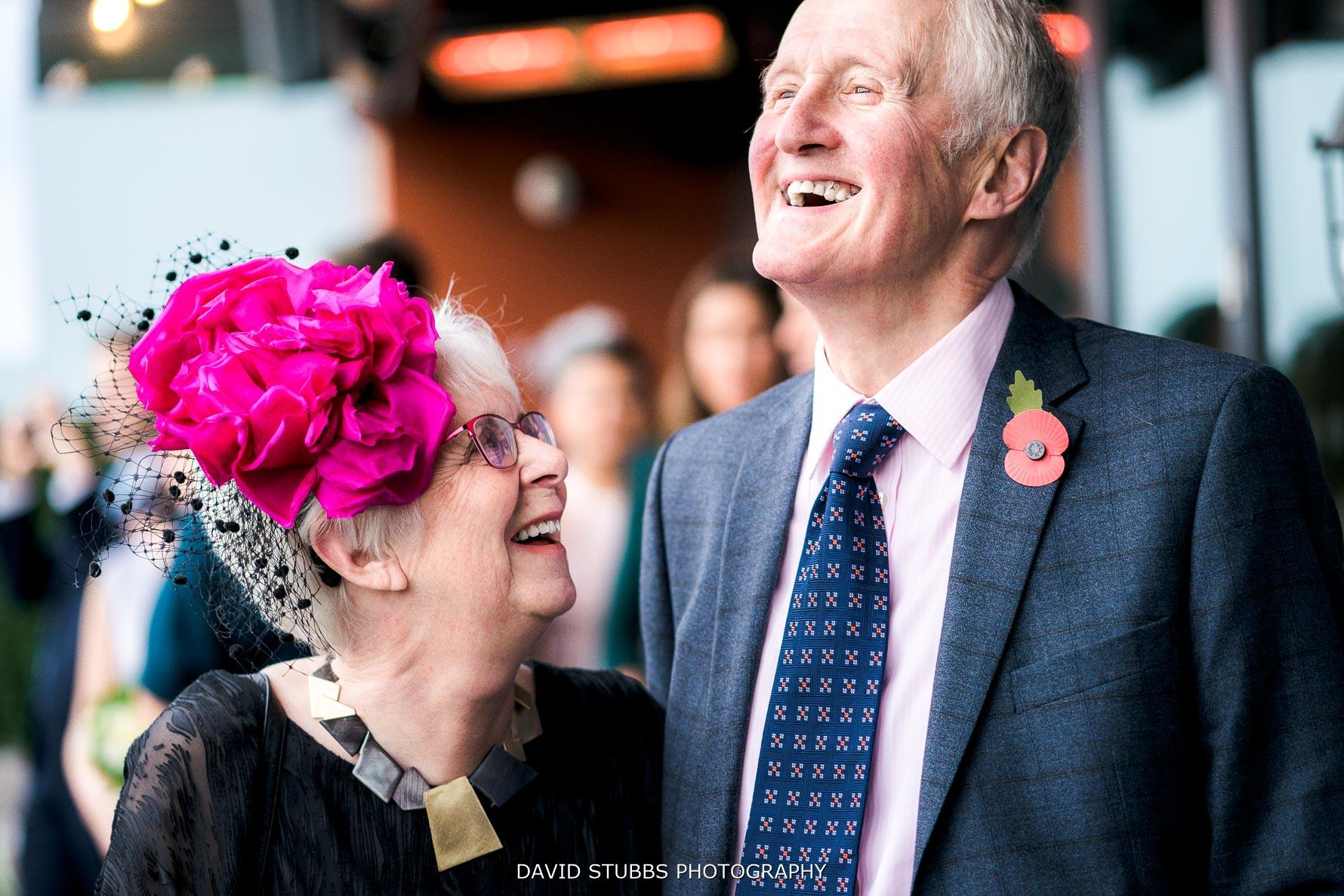 grandparents celebrating the wedding