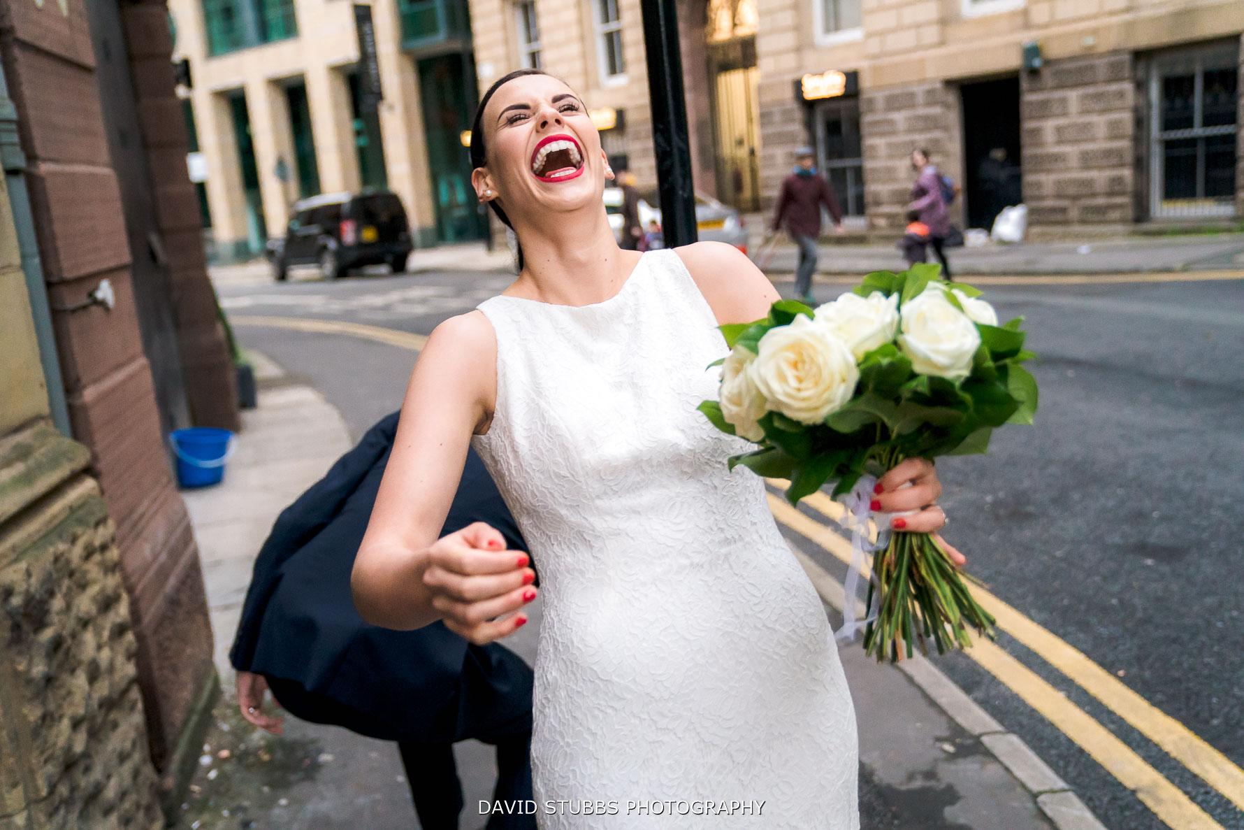 dress caught on the street