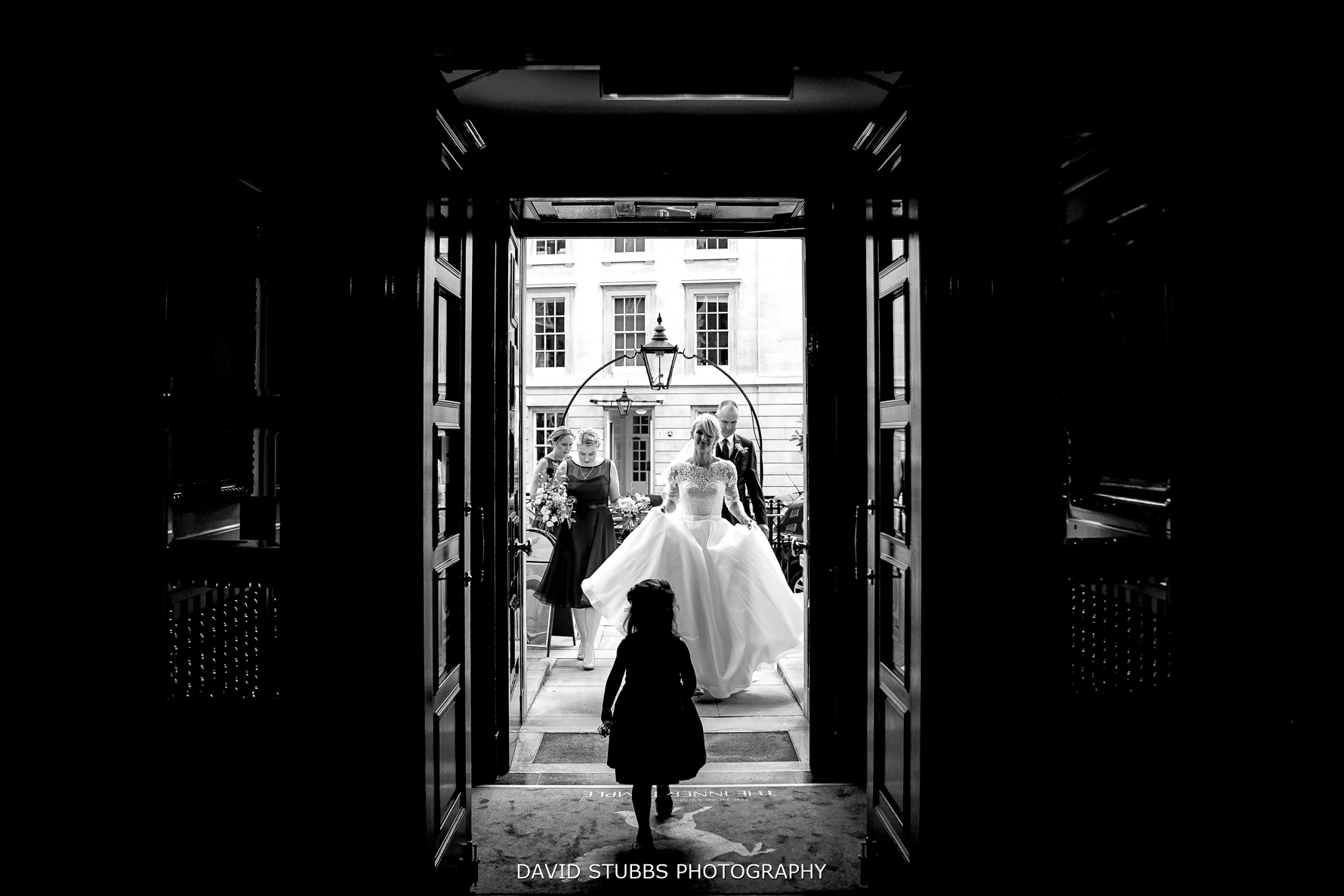 entering middle temple for the wedding