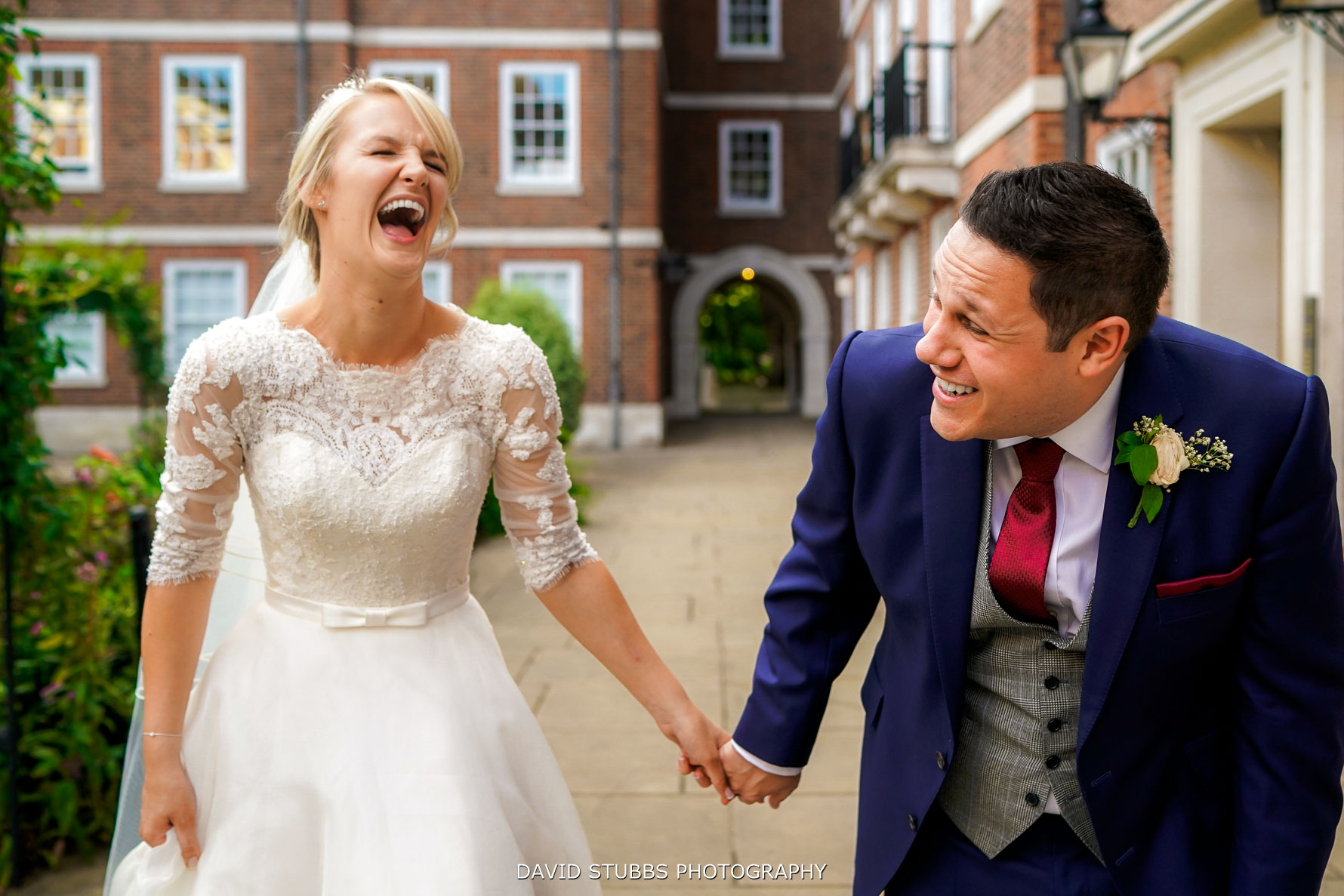 natural wedding photo at inner temple