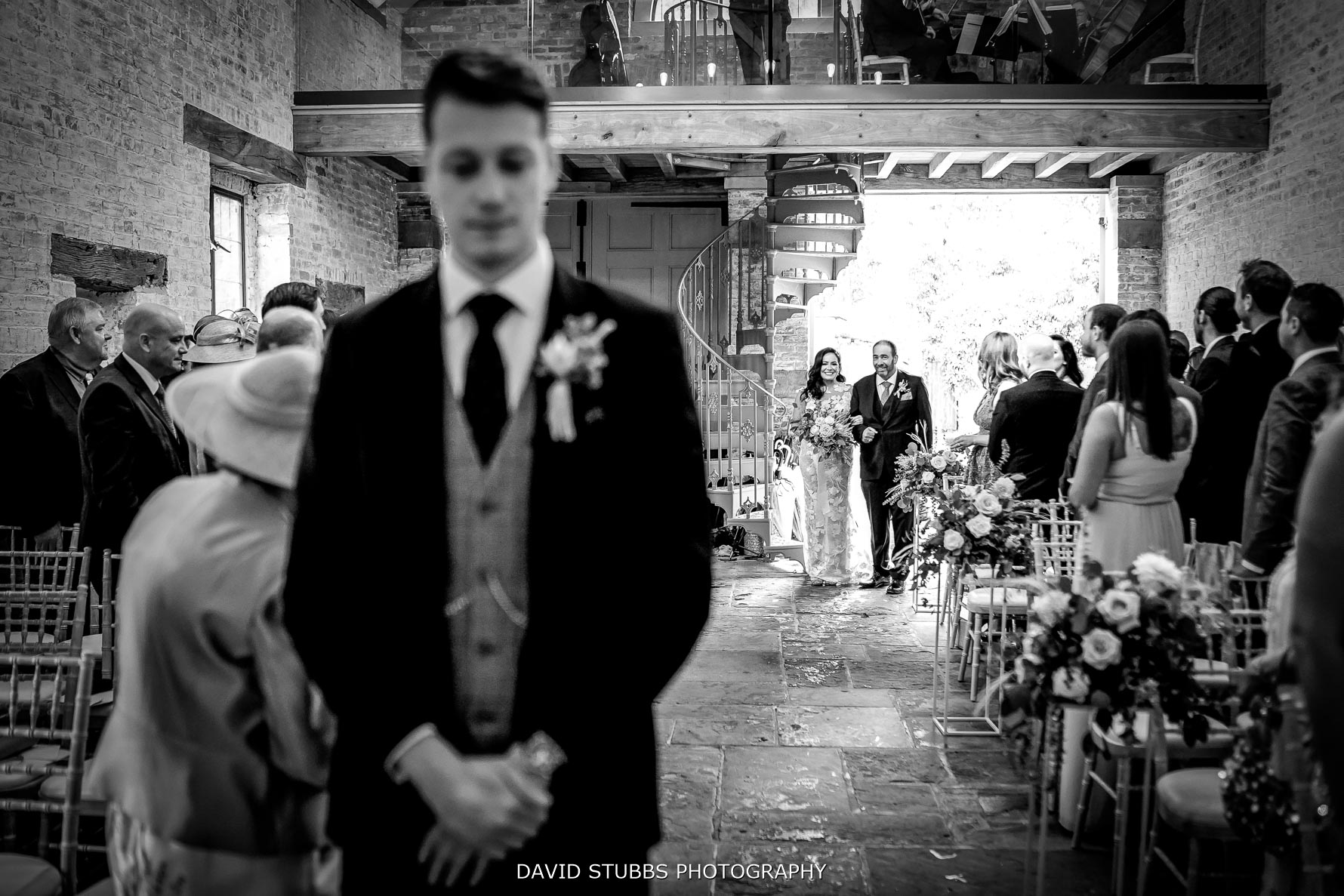 father of the bride walks her down the isle