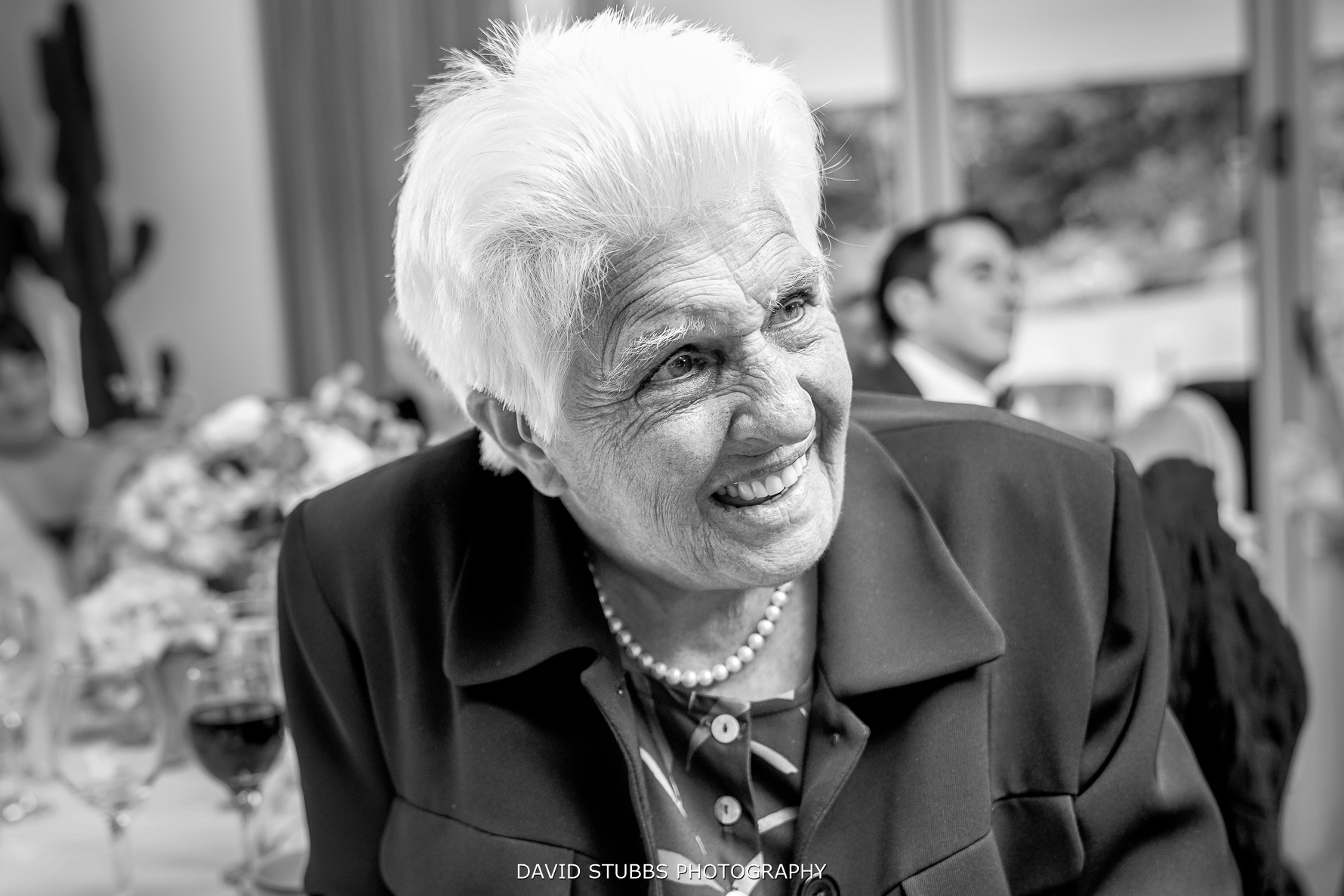 grans reaction during the wedding speeches