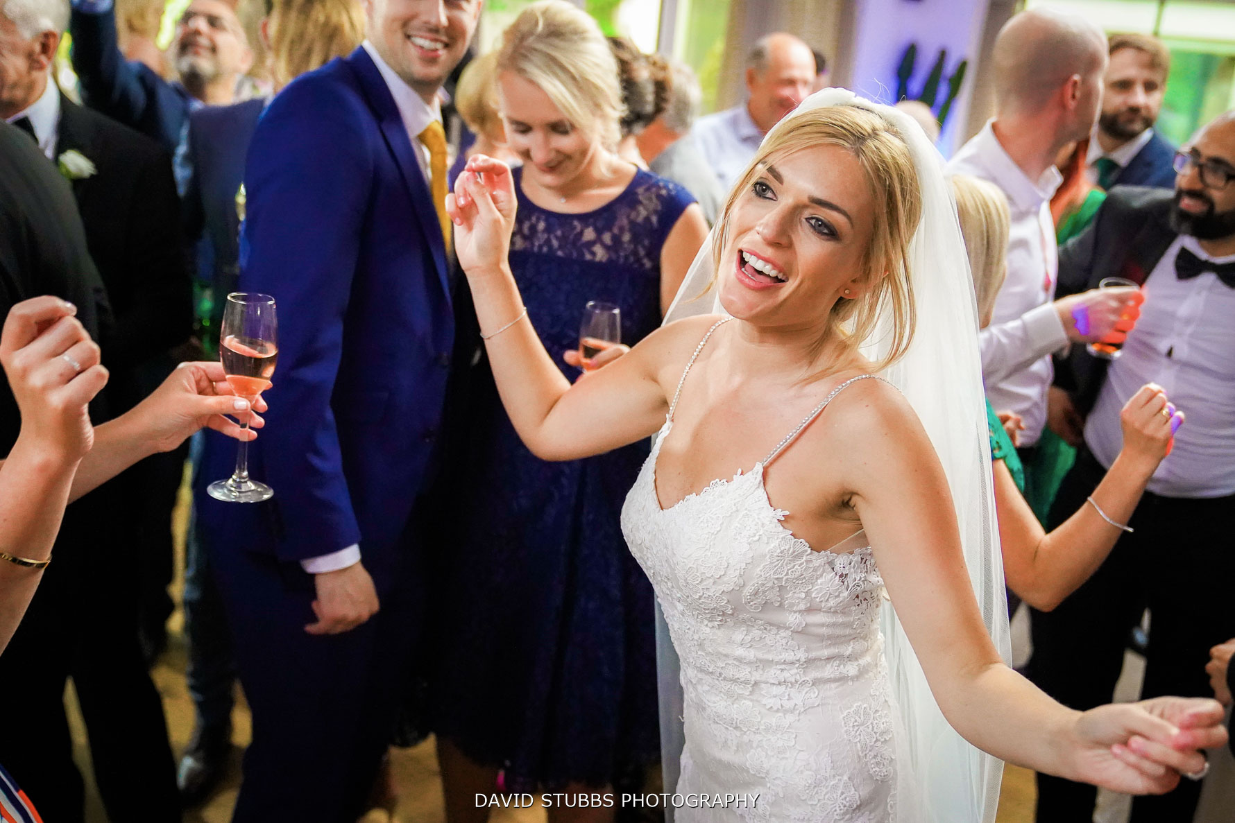 wedding photo at gibbon bridge hotel party