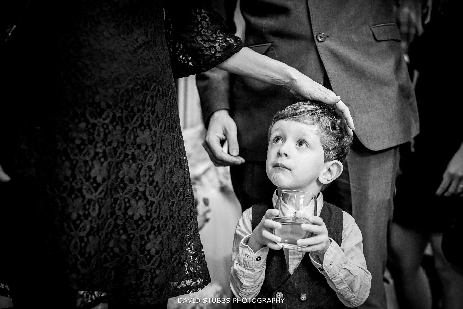 little boy during drinks reception