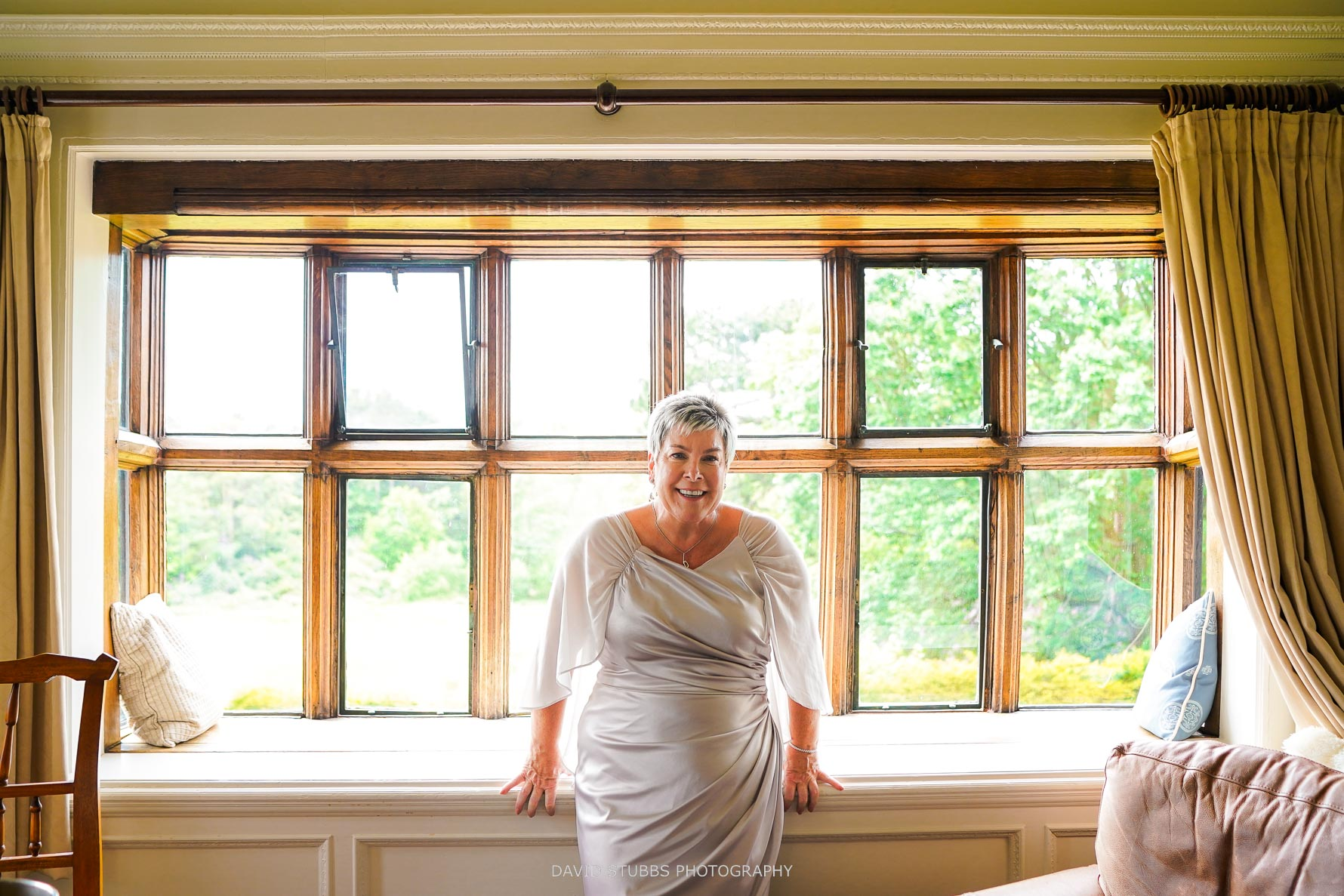 bride sitting waiting for civil ceremony