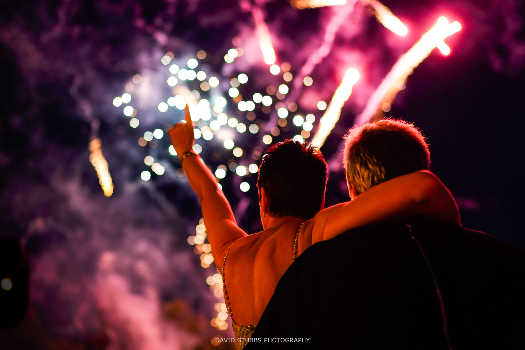 couple celebrate together