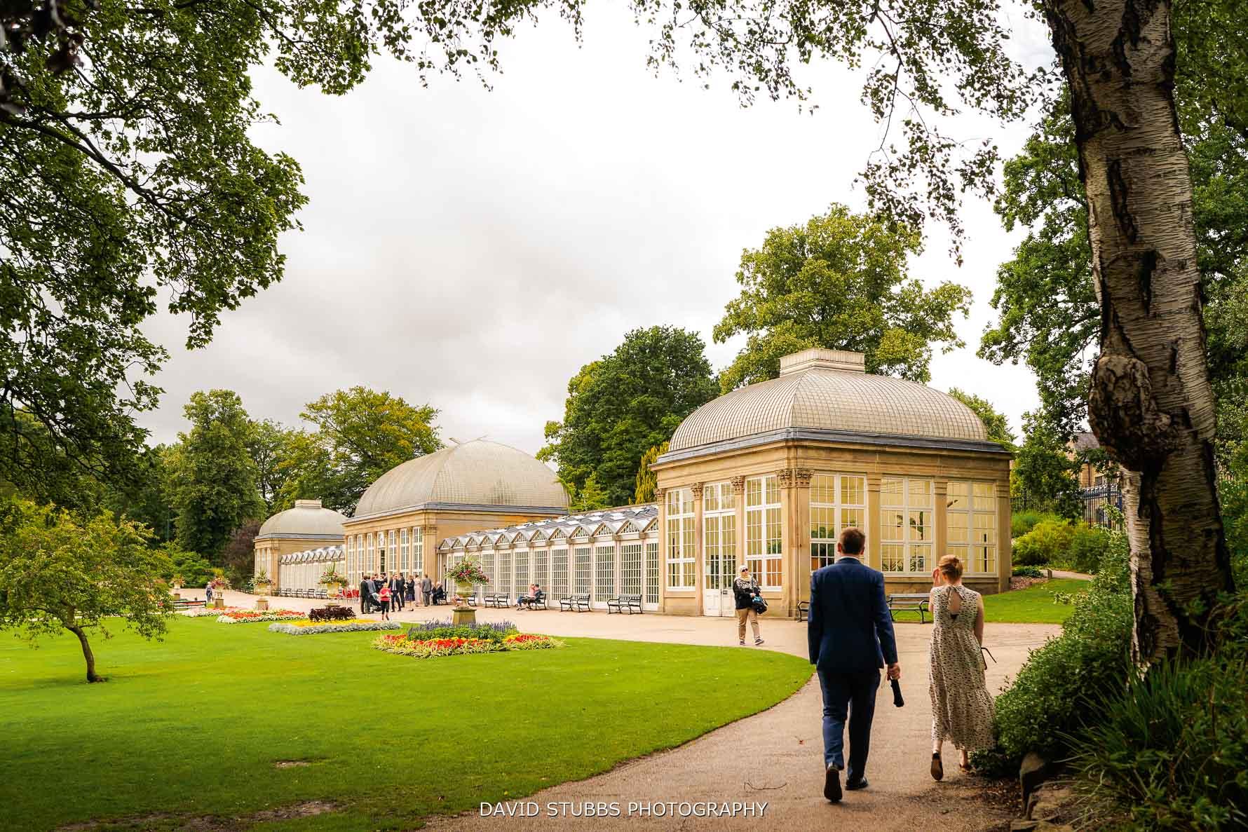 wedding at botanical gardens in sheffield