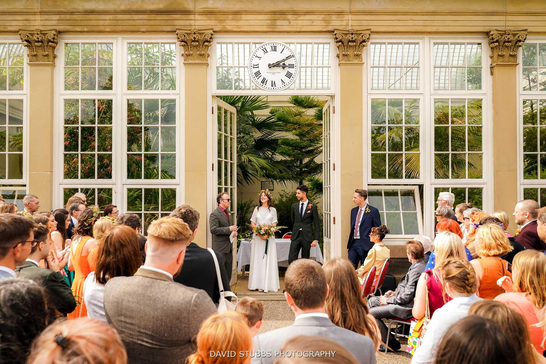 botanical garden wedding photography