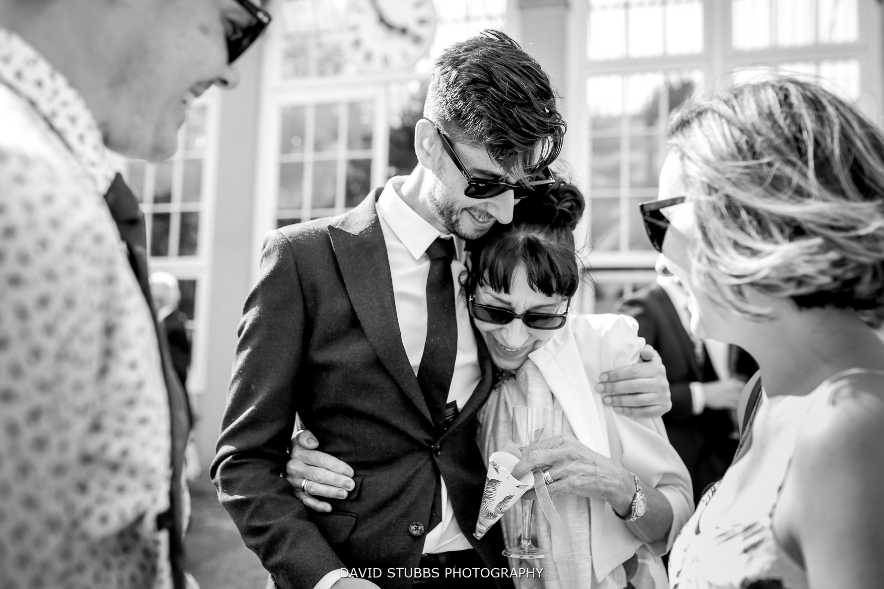 groom and mum together