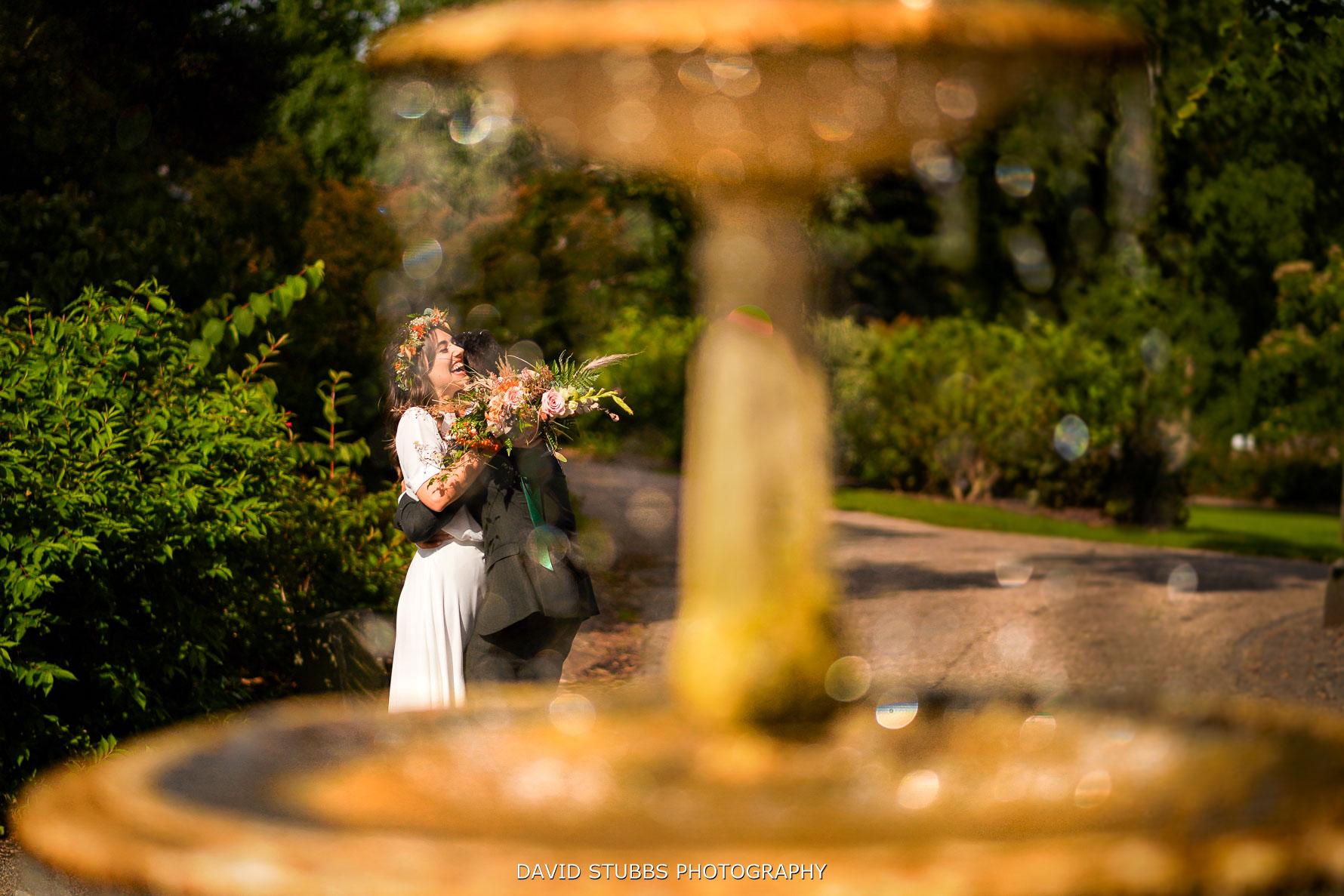 ruths smiles through fountain