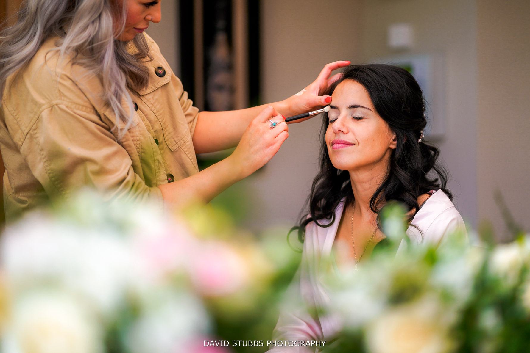 wedding make up at merry dale manor