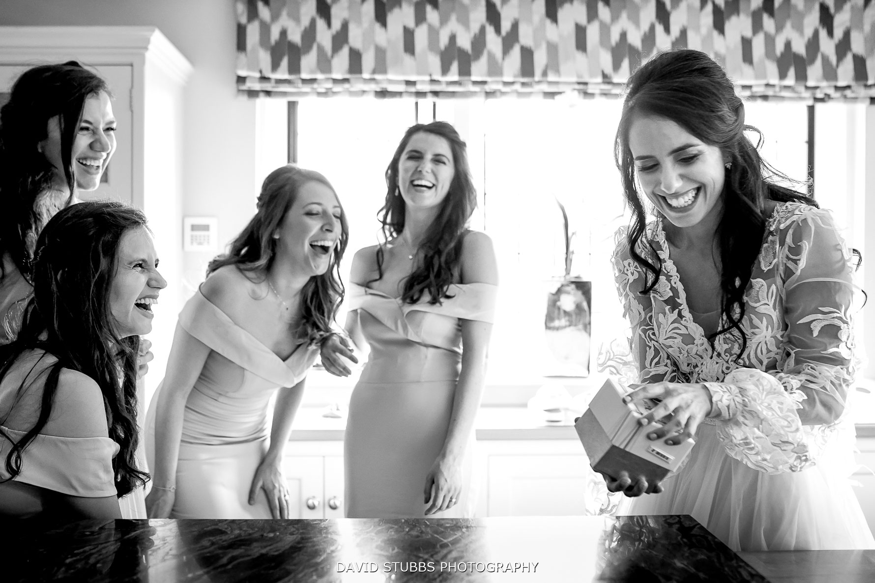 gifts being given to the bridesmaids