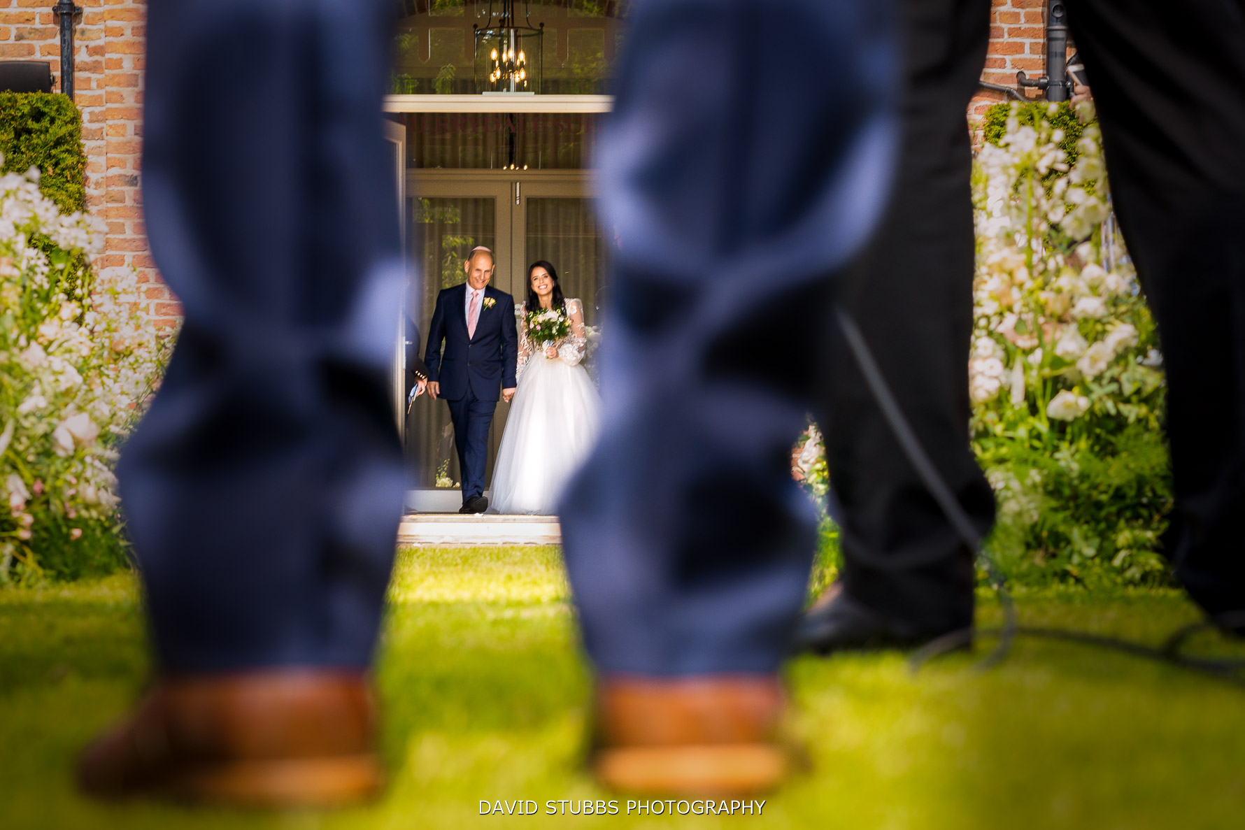 walking down the isle with father