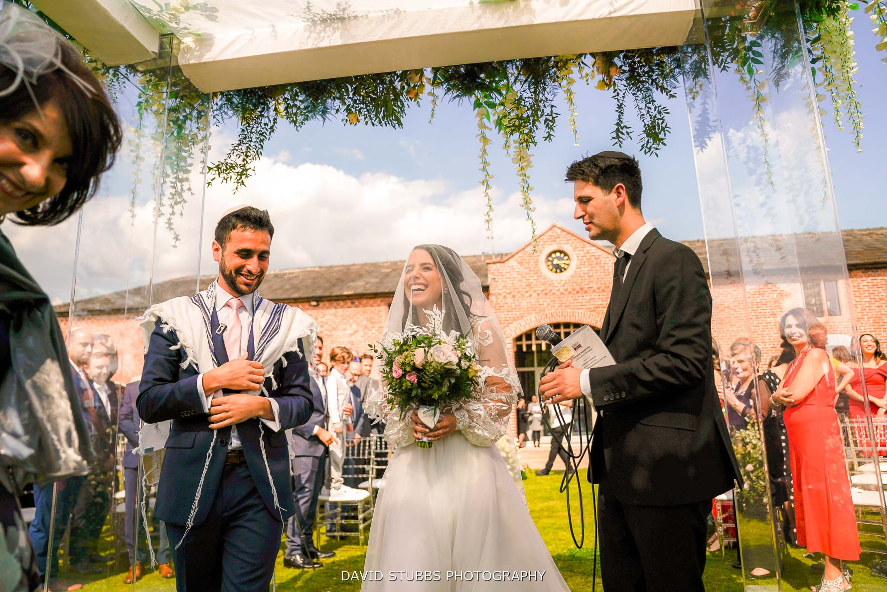 outdoor ceremony at merry dale manor