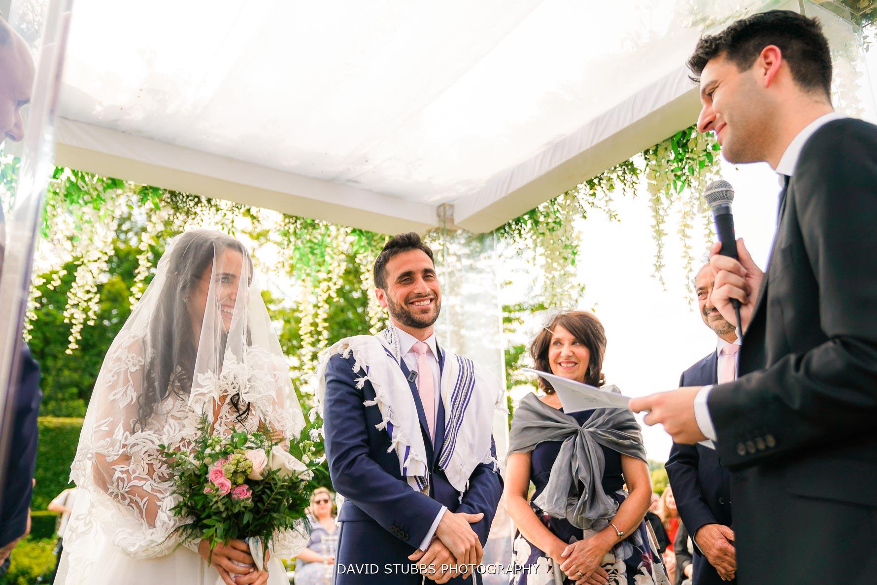 all the family enjoying the wedding ceremony