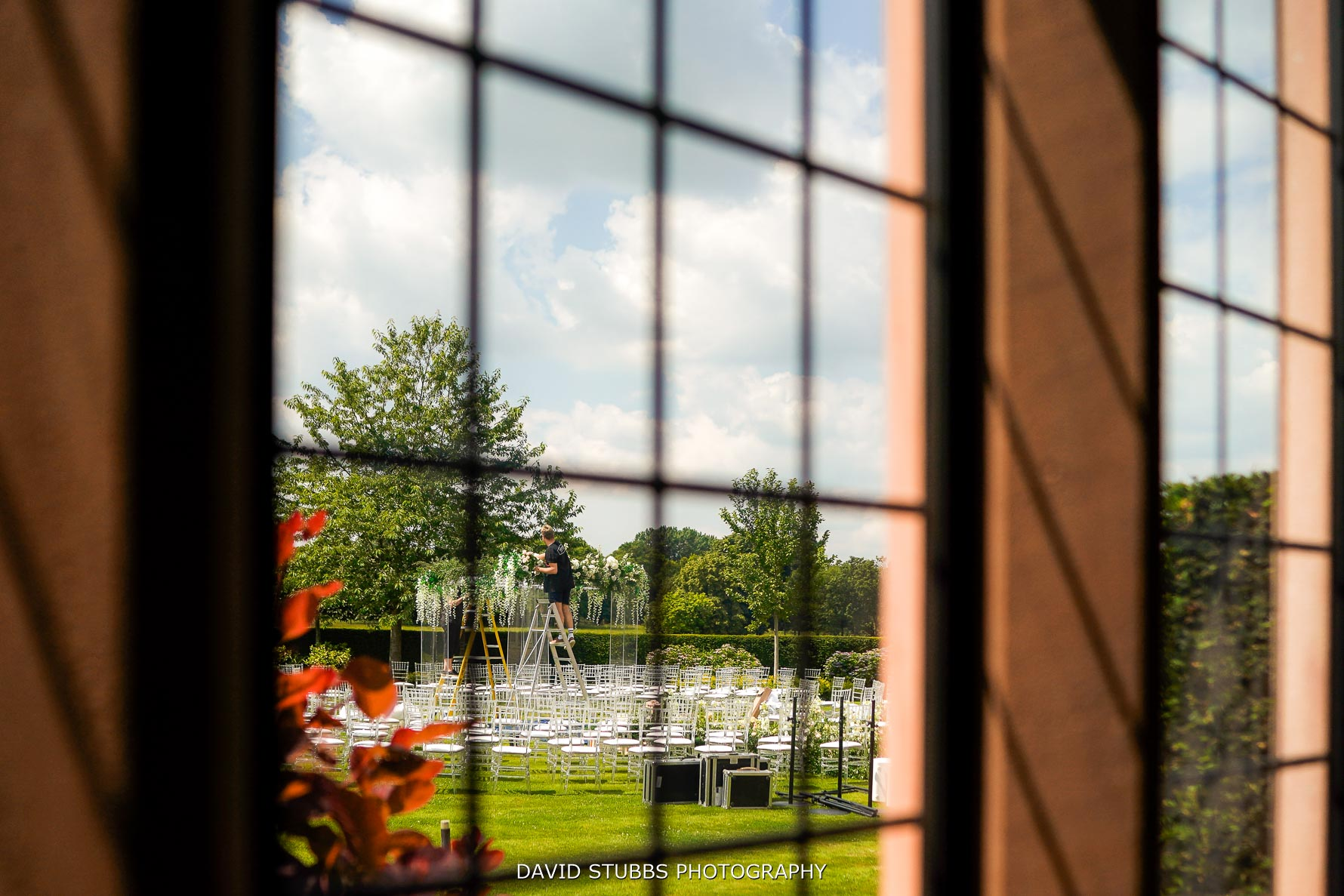 Merrydale Manor ceremony being set-up