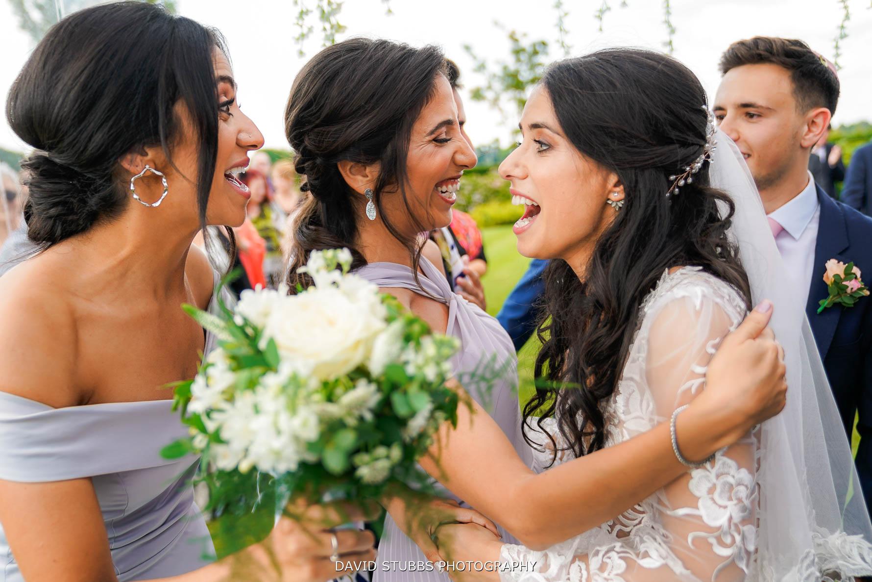 congratulating the newlyweds