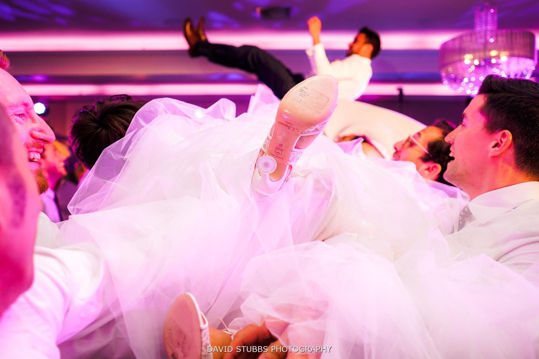dance floor wedding photo