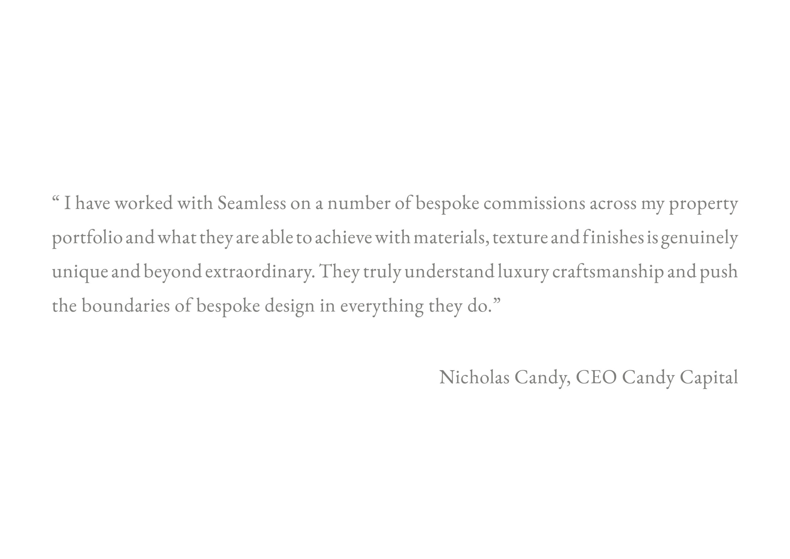 Testimonial - Nicholas Candy
