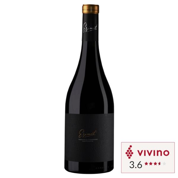 Vivino rated Red wine Ezimit Merlot and Cab Sau Cabarnet Sauvignon bottle in Singapore