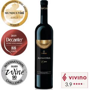Vivino rated Red Wine Merlot Cabarnet Sauvignon Cab Sau Vranec Alexandria Cuvee in Singapore
