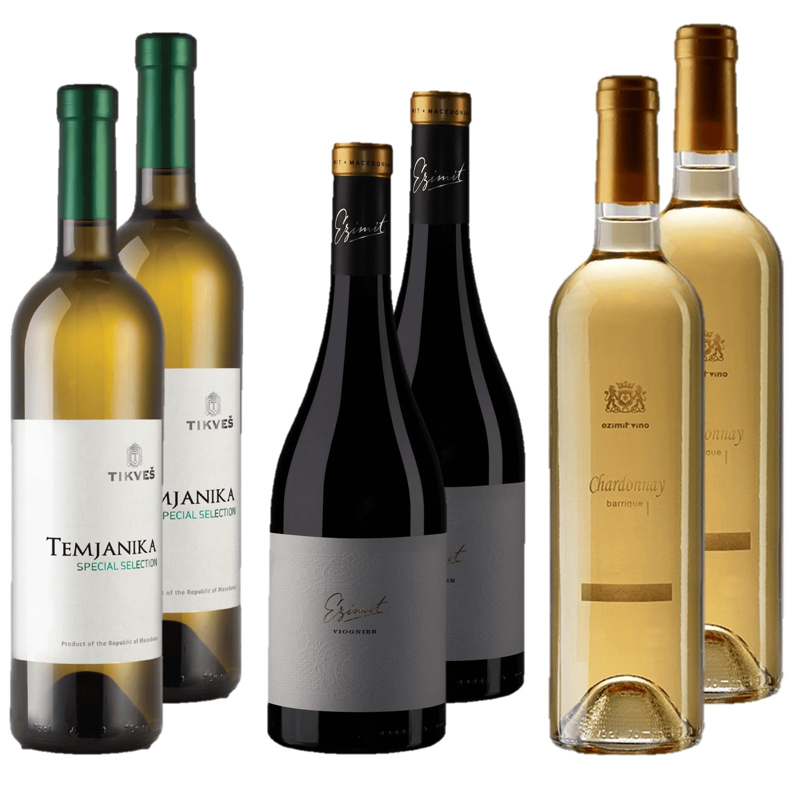 Chardonnay Viognier and Temjanika White wine bundle deal Singapore