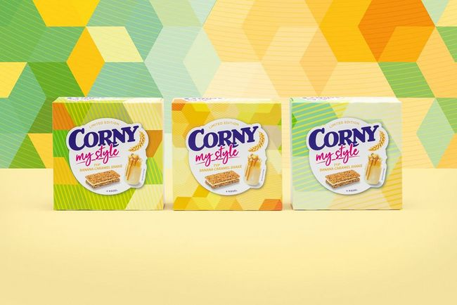 Unique Packaging made from Printa™ for CORNY muesli bars