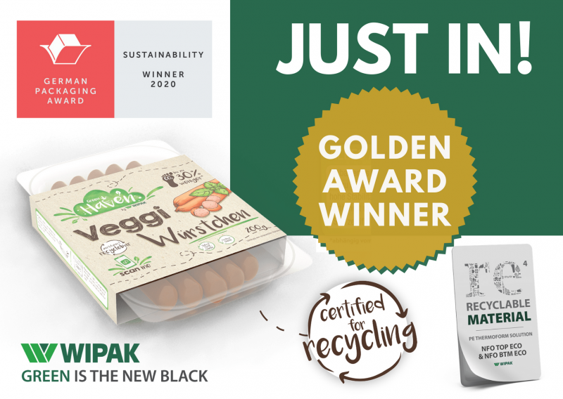 Wipak wins exclusive Gold Award in Sustainability at German Packaging Awards