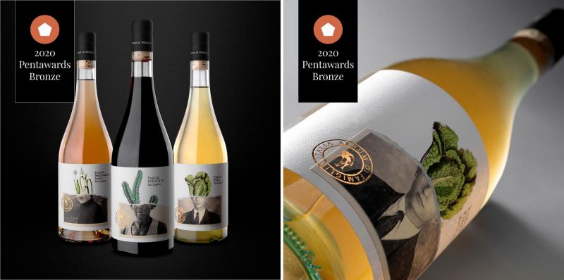 Wildly Crafted's natural beauty icon and Estal's Sommelier collection, awarded at the Pentawards 2020