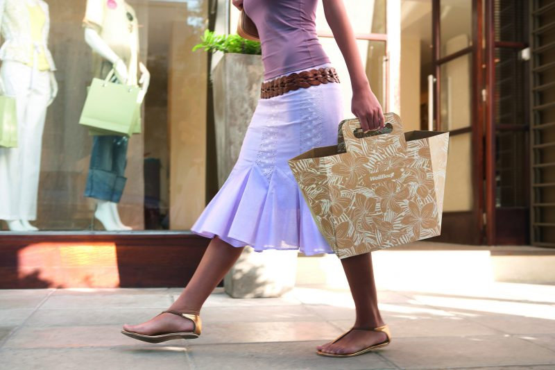 A better life without plastic? With Klingele's innovative shopping bag made of corrugated cardboard!
