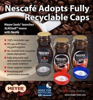 Meyer Seals has launched its ALKOzell™ mono with brand owner Nestlé for its NESCAFÉ brand