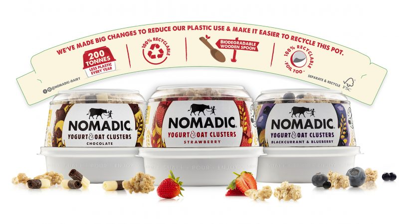 Nomadic Dairy's packaging reduces plastic and communicates its sustainability credentials